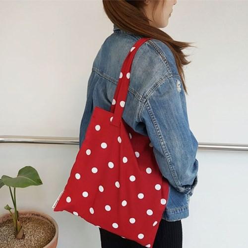 빈티지도트_레드 book bag