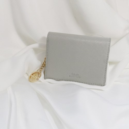 [별자리키링 증정] D.LAB Minette Half Wallet - Gray
