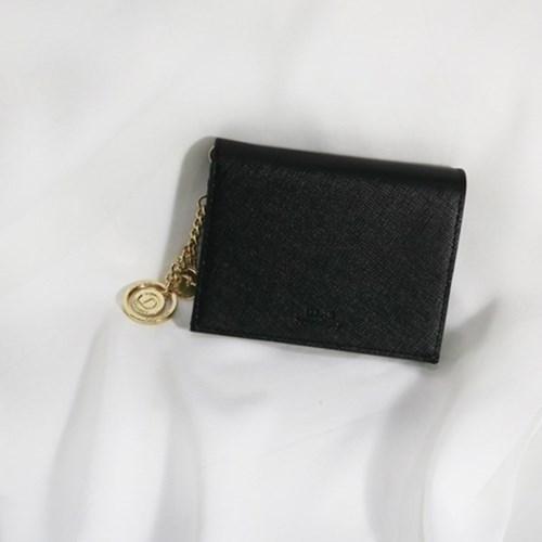 [별자리키링 증정] D.LAB Minette Half Wallet - Black