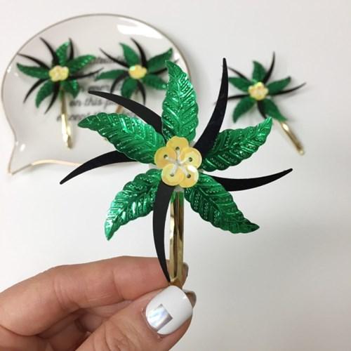 hawaiian hairpin(야자수 모양의 하이이안 헤어핀)