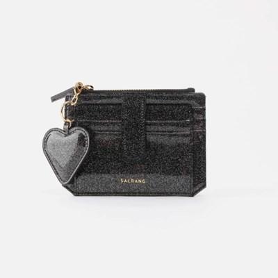 [하트키링증정] 301S Flap mini Card Wallet black pearl