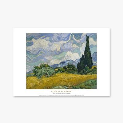 Wheat Field with Cypresses - 빈센트 반 고흐 021