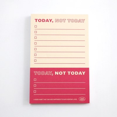 TODAY, NOT TODAY - 투데이 낫 투데이 (레드)