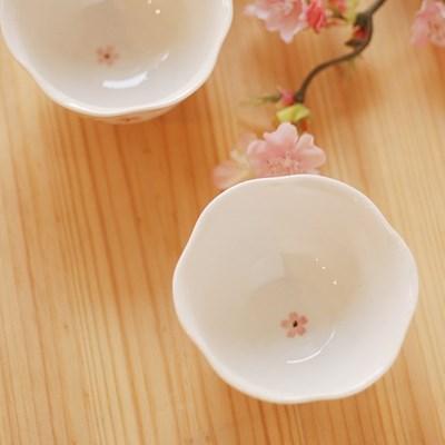 술잔(꽃잎모양M사이즈)_벚꽃