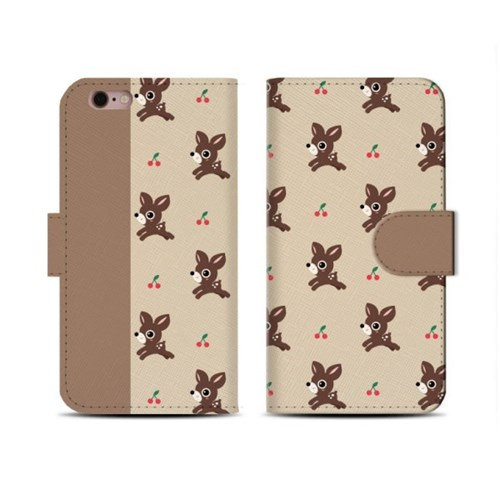 4Pocket Diary cover/ Little deer beige pattern