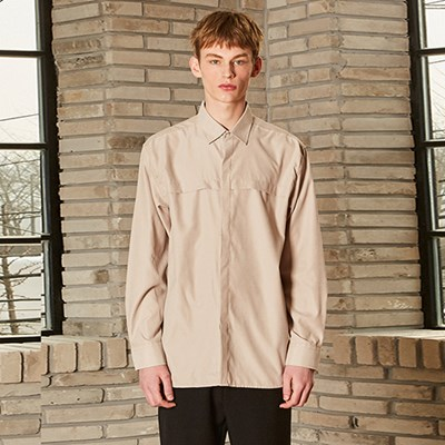 CROSS HIDDEN SHIRTS_LIGHT BEIGE