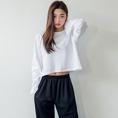 [로코식스] 링벨 컬러 크롭 티셔츠_(766500)
