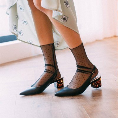 타로 도트 자체제작 땡땡이 시스루 패션양말