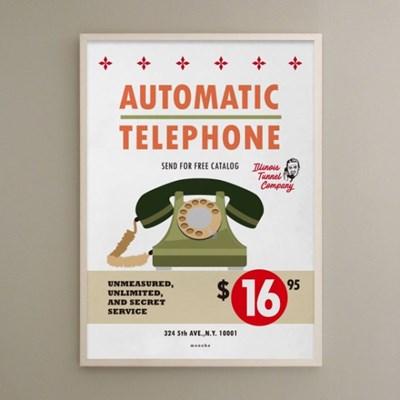 유니크 인테리어 디자인 포스터 M 16달라 텔레폰 레트로