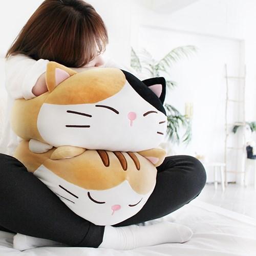 [모찌타운] 까망 고양이 바디필로우 대형모찌인형 L