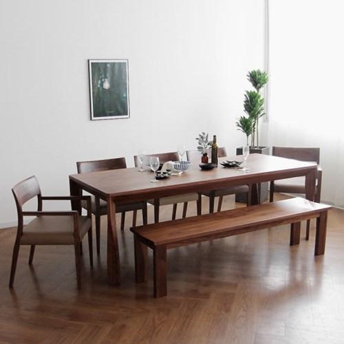 [헤리티지월넛] A1형 식탁/테이블 세트 2200