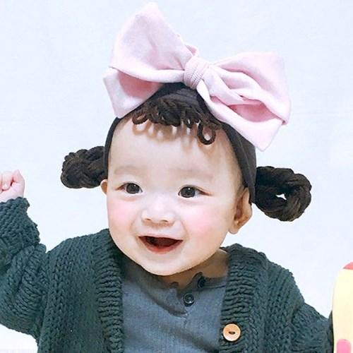 [유호랑]소녀밴드&나비리본핀set