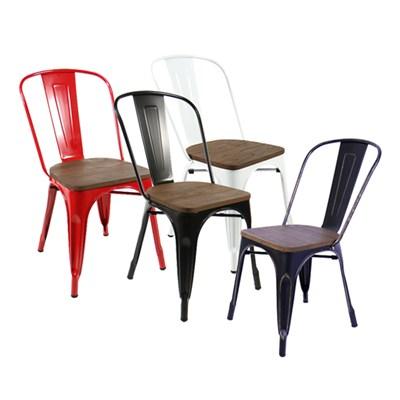 [GAWON] VINTAGE 의자+원목좌판 (4가지색상선택) GH-3534M1