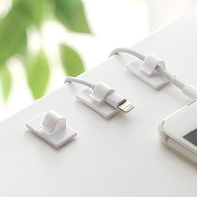 USB 스마트폰 케이블 전선정리 심플 클립 홀더 8EA_(781015)