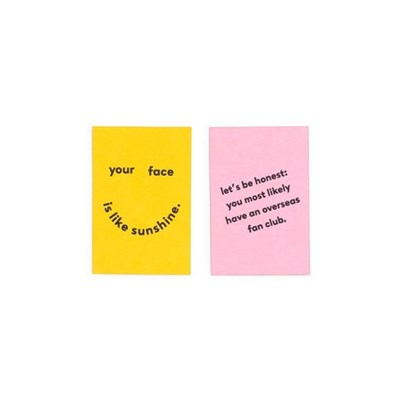 COMPLIMENT CARD SET-face like sunshine/fan club(미니카드세트)