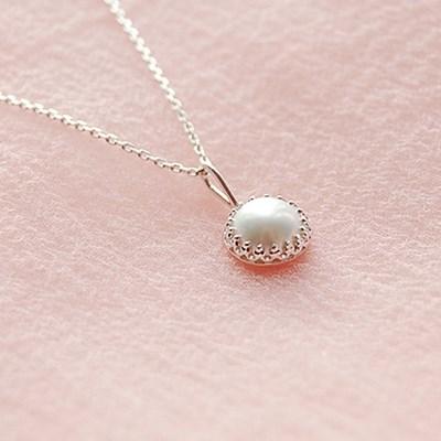 [하우즈쉬나우] Cream Moon 천연 담수진주 Necklace (6월 탄생석)