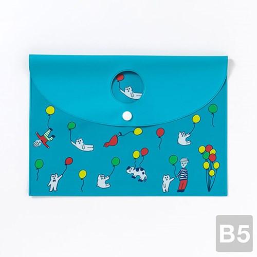 [AIUEO] Flat Case - Kuma balloon(B5size)