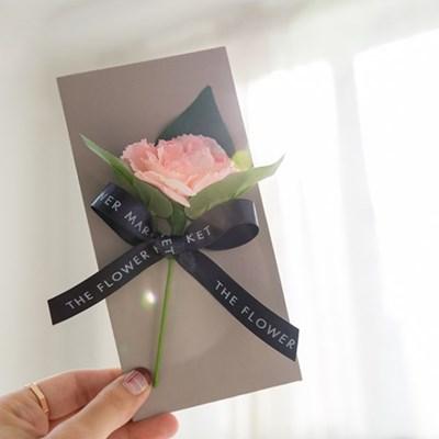 시그니쳐 카네이션 감사봉투 카드세트 [5color]_(576620)
