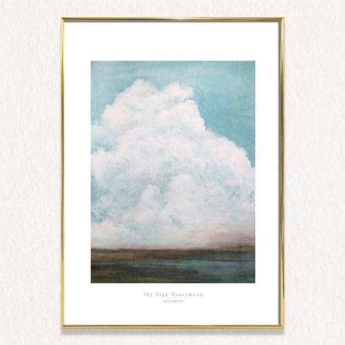 제이지클리 [ Sky high honeymoon  ] 구름그림 액자