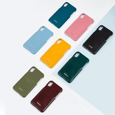FENNEC LEATHER IPHONE X CARD CASE (8colors)