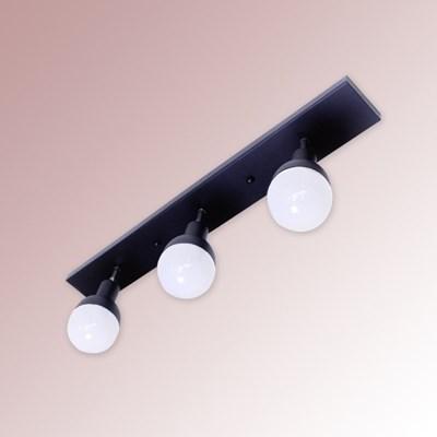 꼬깔 주방 3등 직부등 (블랙)