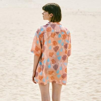 [SS18 NOUNOU] Coral Reefs Rayon Shirts(Pink)_(621323)