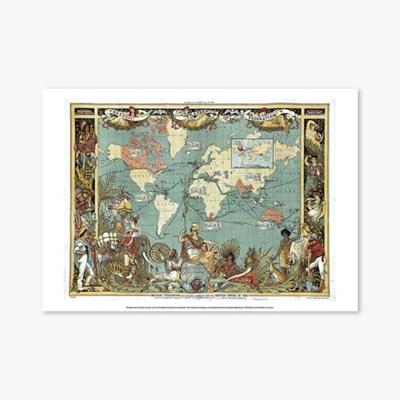 빈티지아트포스터_19th century world map_0093