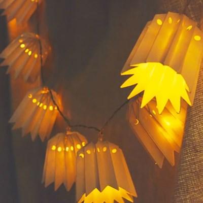 LED 종이갓 전구가랜드 10P_(301528875)