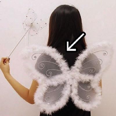 러블리 솜털 나비날개 (화이트)_(301526937)