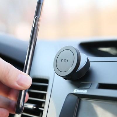 레이 히든컴팩트 자유각도조절 차량용 핸드폰 거치대