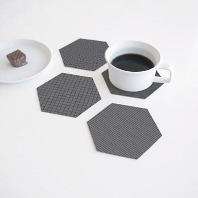 폴리곤 코스터 그라파이트 (4개세트) - Polygon Coaster Graphite