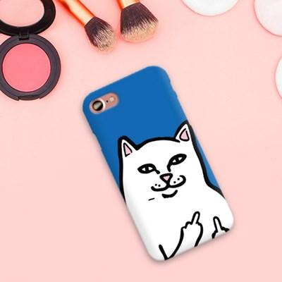 불량고양이 디자인 슬림 하드 케이스