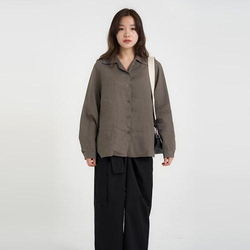maple linen shirt (3colors)