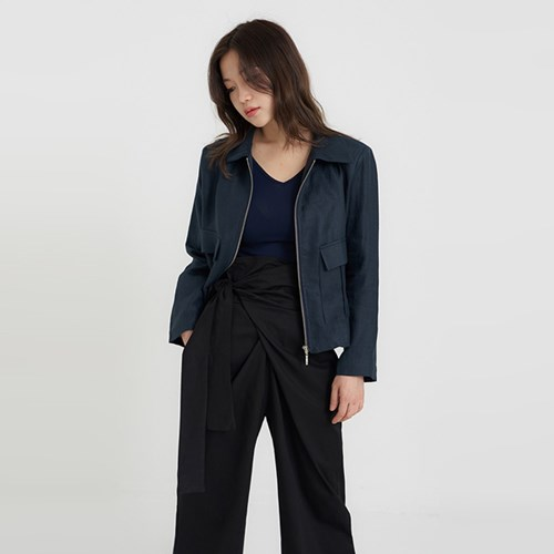 pocket crop linen jacket (2colors)