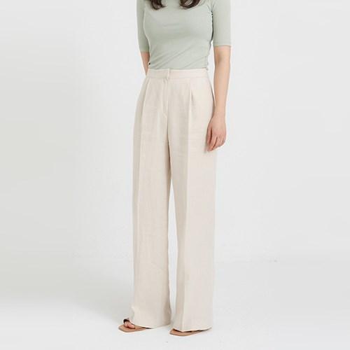 mood linen wide slacks (2colors)