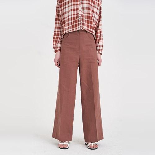 linen high wide pants (2colors)