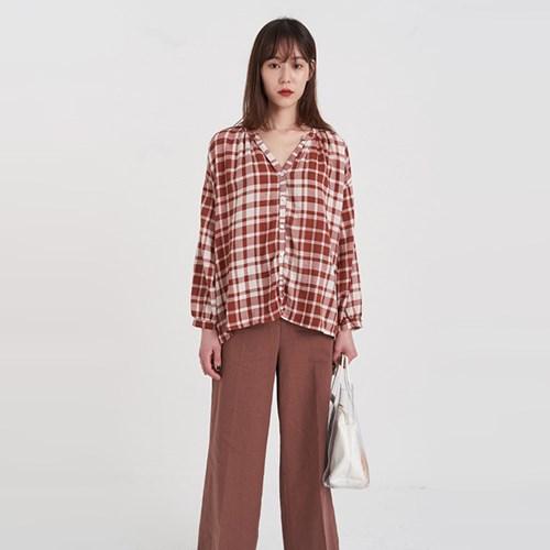 check balloon blouse (2colors)