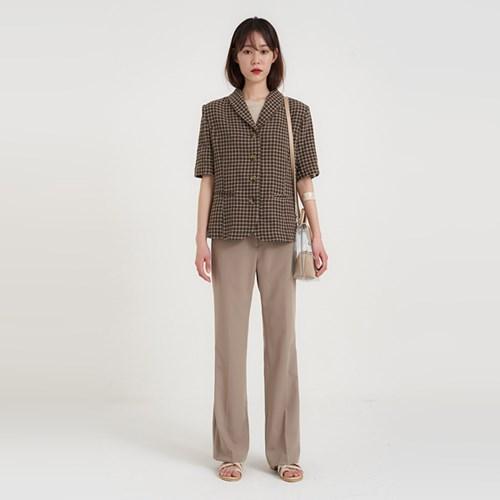 meet check half jacket (2colors)