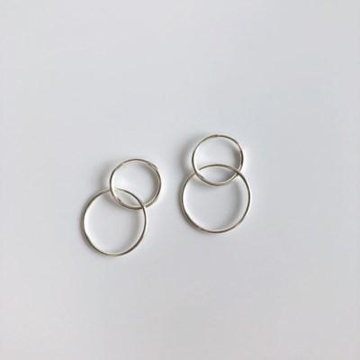 2way ring earring (실버 투웨이 링 귀걸이) [92.5 silver]