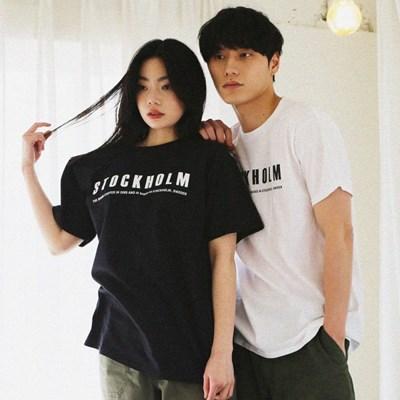 [gram 그램슈즈] 스톡홀름 티셔츠 (블랙/화이트)