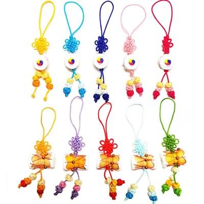 한국전통악기 장구 북 매듭핸드폰줄(10개묶음)