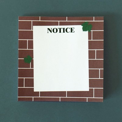 Notice on the wall