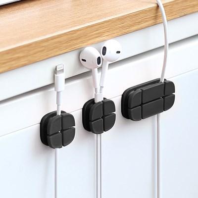 USB 스마트폰 이어폰 선정리 크로스 케이블 홀더 3EA_(815620)