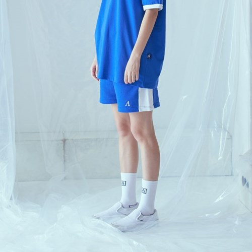[어나더프레임] A LOGO LINE SHORT (BLUE)_(841619)