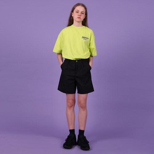 [NCOVER] Lettering logo tshirt-lime