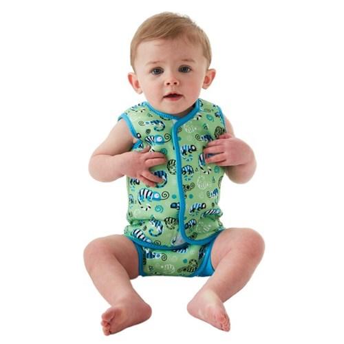 체온보호 래퍼 아기수영복(그린게코)