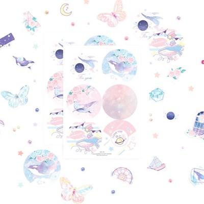마넷 원형 라벨 - 달빛 고래