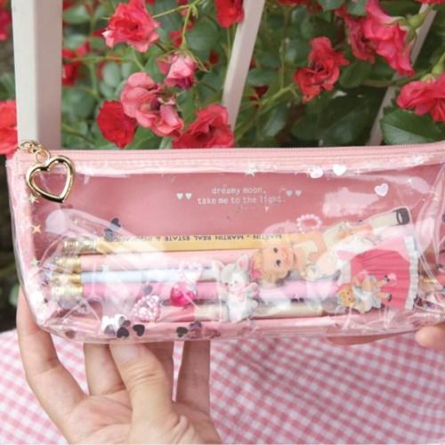 Paper doll mate glitter pouch.P_Julie
