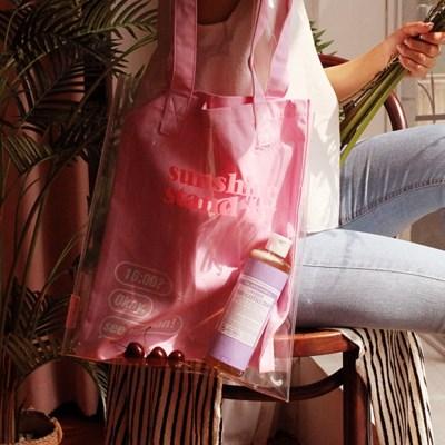 선샤인 트윈 PVC에코백 핑크