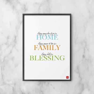 홈 패밀리 블레씽 포스터 액자